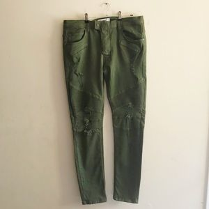 NWT Fashion Nova Men Skinny Moto Jeans